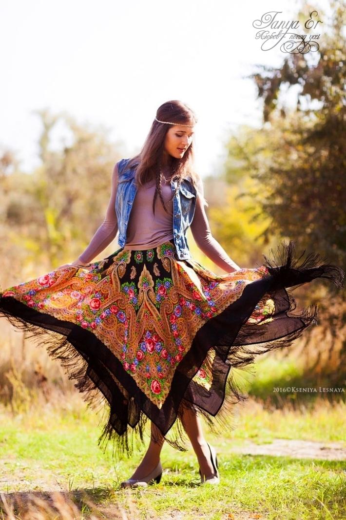 юбка из платков